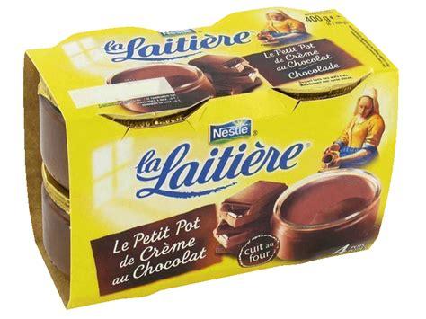 petits pots creme la laitiere chocolat 4x100g tous les