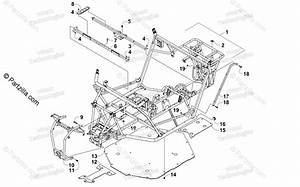 Arctic Cat Side By Side 2017 Oem Parts Diagram For Frame And Related Parts