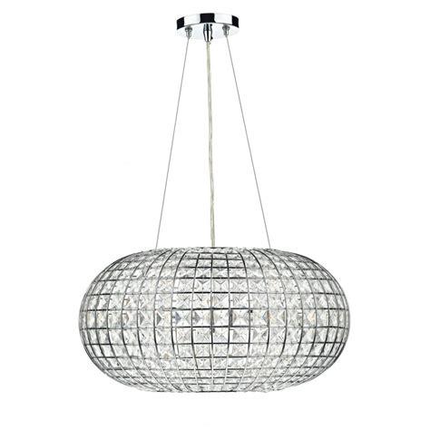 modern chandelier pendant light circular chrome frame