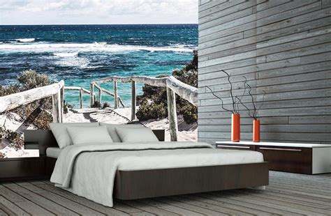 chambre d h es romantique papier peint plage et bord de mer direction baignade