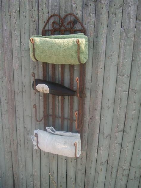 wine rack towel holder wrought iron 4 bottle wine rack or towel holder