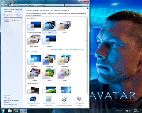 theme de bureau windows 7 thème de bureau avatar télécharger