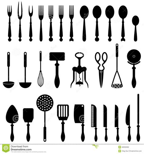 ustensile de cuisine kitchen utensil stock vector image 48395992