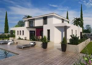 maison moderne bouches du rhone drome gard vaucluse With modele de construction maison