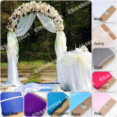 90 White Metal Arch 54x40 Yards Tulle Wedding Party