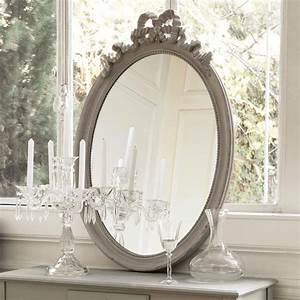 Maison Du Monde Miroir : miroir ovale en bois taupe h 95 cm bianca maisons du monde mobilier suite pinterest ~ Teatrodelosmanantiales.com Idées de Décoration
