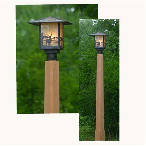 rustic outdoor lighting  cedar lamp post flickr