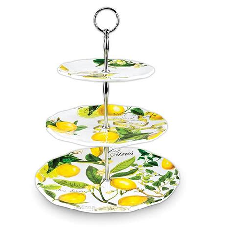 michel design works trays michel design works 3 tier trays lemon basil