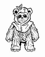 Coloring Adult Ewok Wars Fine Clipart Clip Drawings Sheets Tattoo Arts Library Leia sketch template