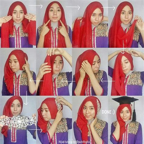 beautiful graduation hijab style hijab