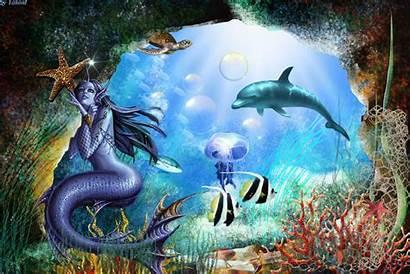 Underwater Fantasy Animated Mermaid Desktop Cool Mobile9