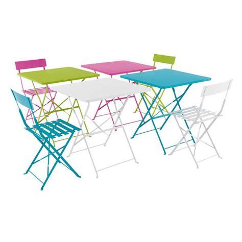table et chaises de jardin pas cher table de jardin ronde pliante