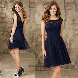 aliexpresscom buy navy blue wedding party dresses lace With short dress for wedding party