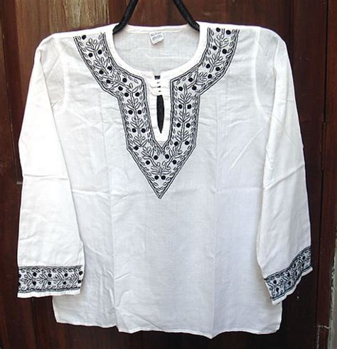 mens cotton dress ethnic indian tunic top shirt hand