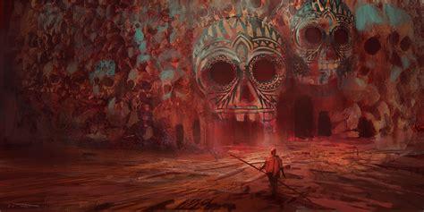 Fondos de pantalla : pintura, Arte fantasía, rojo, Obra de ...