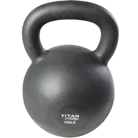 kettlebell iron cast weight 100lb workout swing fitness 5lb titan solid natural