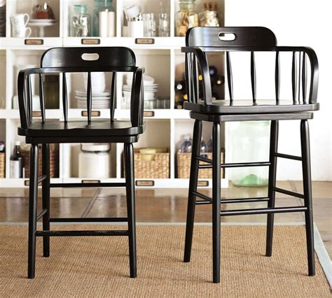 captain s swivel barstool pottery barn transitional