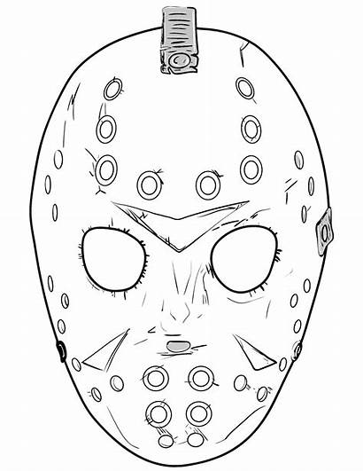 Jason Coloring Mask Pages 13th Friday Halloween