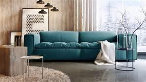 Canapé 2 3 Places : canap design 3 places avec assise tissu matelass e storra mobilier moss ~ Teatrodelosmanantiales.com Idées de Décoration