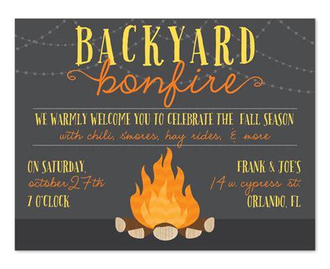 backyard bonfire birthday invitations  invitation