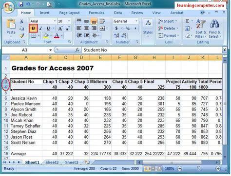 microsoft excel 2007 tutorial home tab softknowledge s blog