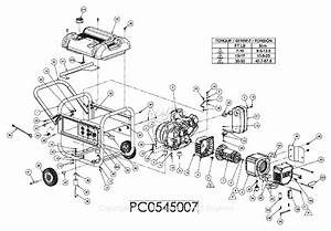Powermate Formerly Coleman Pc0545007 Parts Diagram For