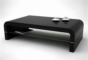Table Basse Moderne Pas Cher : table basse en bois noir table basse et pliante ~ Teatrodelosmanantiales.com Idées de Décoration
