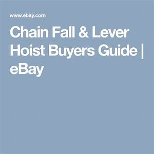 Chain Fall  U0026 Lever Hoist Buyers Guide