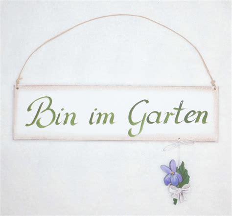Dekoschild Bin Im Garten Veilchen Bei La Cassettala Cassetta