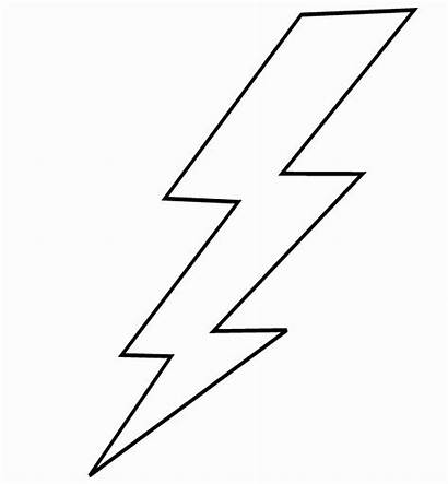 Lightning Bolt Coloring Printable Drawing Storm Colorir