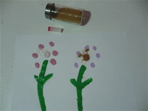senses activity scented finger print flowers fun