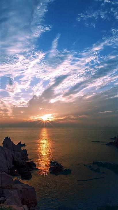 Iphone Sky Wallpapers Sunset Nature Bridge Sea