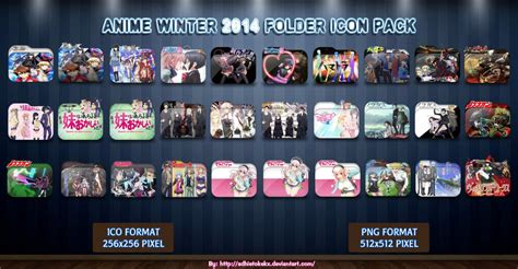 Winter 2014 2015 Anime Folder Icon Pack By Mikorin Chan Anime Winter 2014 Icon Pack By Adhietokekx On Deviantart