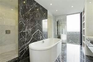 le marbre et le design contemporain archzinefr With salle de bain design avec evier en marbre