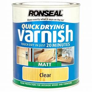 ronseal quick drying clear varnish matt finish 750ml With floor varnish matt