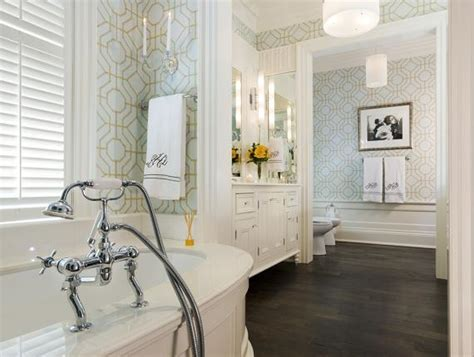 Pretty Bathroom Showers by Brewster Geometric Wallpaper Transitional