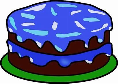 Cake Candles Birthday Clip Clipart Cakes Plain