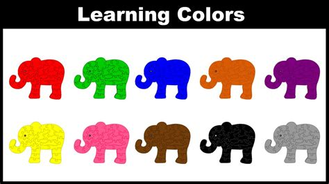 Colors For Children  Learn Colors With Elephant Colors