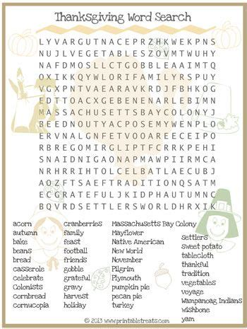 thanksgiving word search for kids printable from