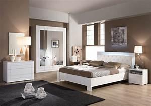 Meubles Chambre Coucher Laqu Blanc ALASKA Design