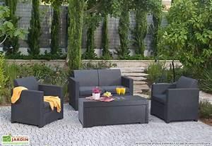 Salon De Jardin Gris Anthracite : am nagement salon de jardin gris anthracite ~ Melissatoandfro.com Idées de Décoration