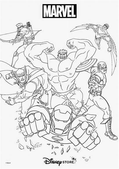 Coloring Marvel Superhero Hulk