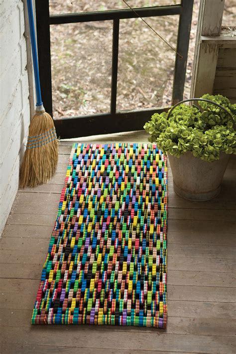 recycled flip flop large door mat