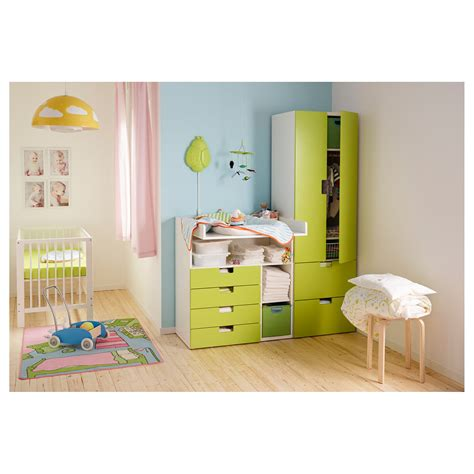 chambre stuva ikea stuva changing table with 4 drawers white green 90x79x102