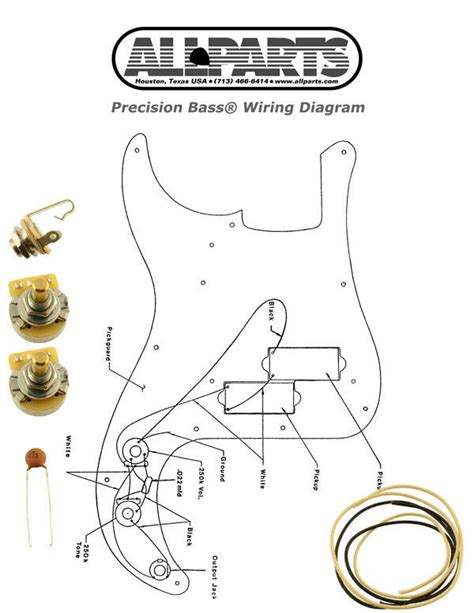 new precision bass pots wire wiring kit for fender p