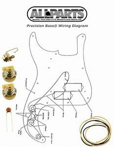 New Precision Bass Pots Wire  U0026 Wiring Kit For Fender P Bass Guitar Diagram