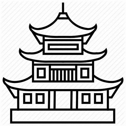Temple Pagoda Japanese Clipart Clip Drawing Icon