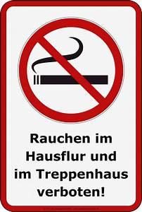Rauchen Im Treppenhaus : aufkleber rauchverbot hausflur treppenhaus 20 x 30 cm ~ Frokenaadalensverden.com Haus und Dekorationen