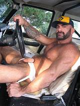 Hairy truck driver video