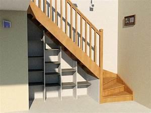 Aménagement Sous Escalier : etag re sous escalier mod le basique d 39 am nagement sous escalier conomique et efficace cr ~ Preciouscoupons.com Idées de Décoration